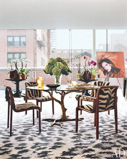 decoracao sala zebra : decoracao sala zebra:decoracao-sala-de-jantar-diane-von-furstenberg